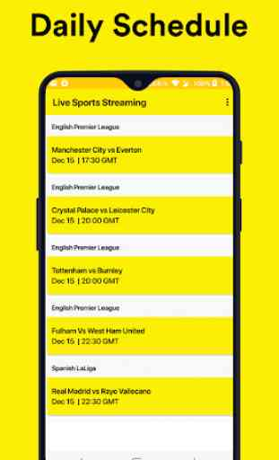 Live Football Sports Score and TV Guide Schedule 1