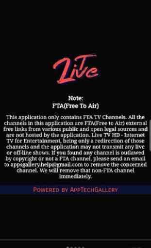 Live TV HD - Internet TV of Entertainment 24/7 1
