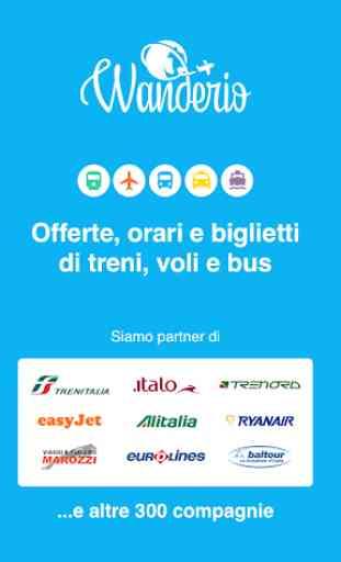 Orari e offerte treni, voli e bus - Wanderio 1