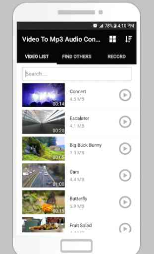 Video To Mp3 Audio Converter - Sound Extract 1