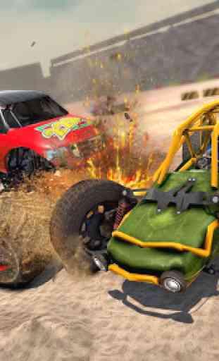 Dune Buggy Car Crash Stunts : Demolition Derby 2