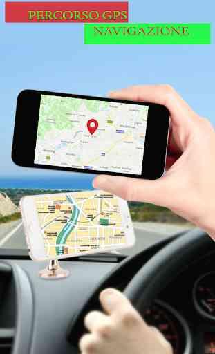 GPS satellitare itinerario cartina direzione 4