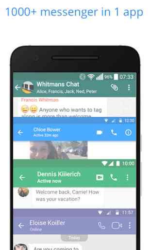 Messenger per messaggi, chat di testi e videochat 1