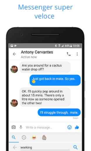 Messenger per messaggi, chat di testi e videochat 3