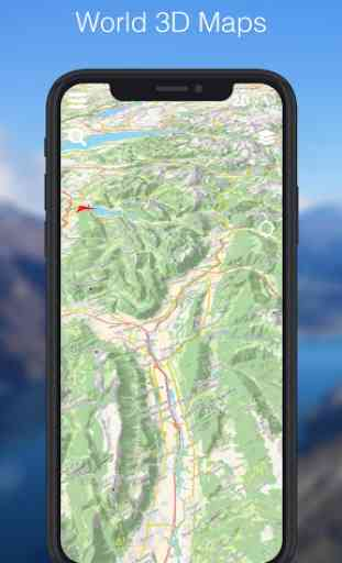 Relief Maps - 3D GPS for Hiking & Trail Running 3