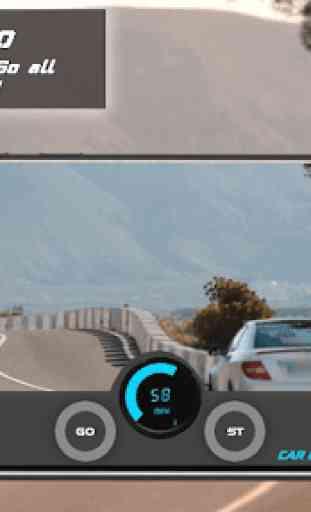 Tachimetro GPS Dash Cam e registratore per auto 4