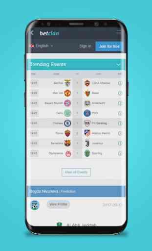 BetClan - App di Predizioni Sportive 2