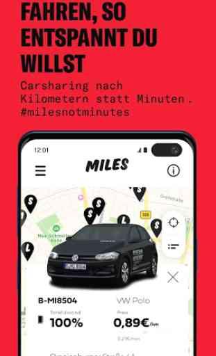 Carsharing mit MILES 1