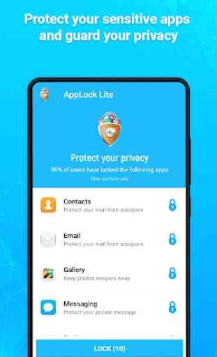 AppLock Lite - Lock App, Fingerprint, PIN, Pattern 1