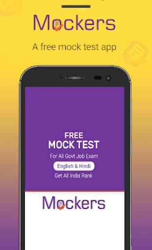 Free Mock Test , SSC, Railway, Bank - Mockers 1