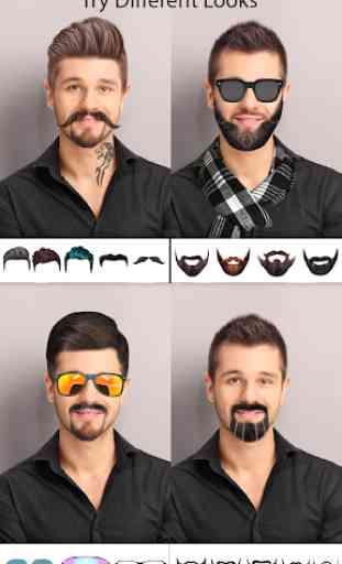 Man Photo Editor : Man Hair style ,mustache ,suit 1