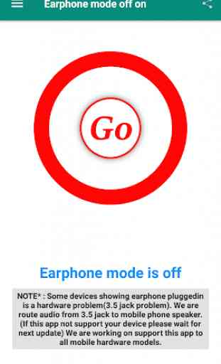 Earphone mode off 1