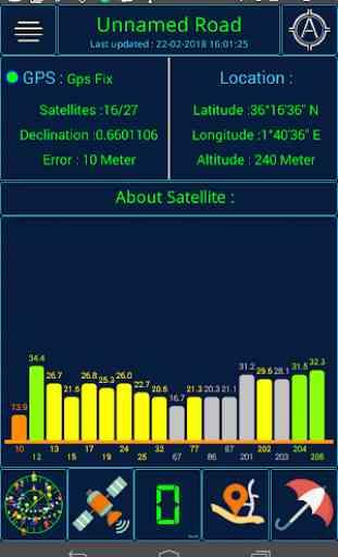 Stato GPS e meteo 2