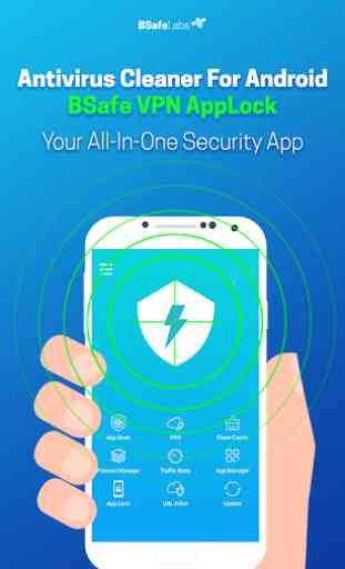 Antivirus Pulitore Per Android BSafe VPN Blocco 1