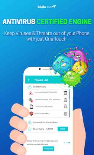 Antivirus Pulitore Per Android BSafe VPN Blocco 2