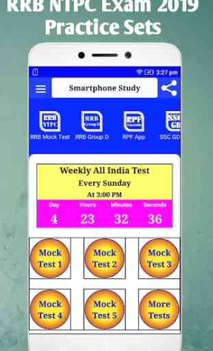 Railway RRB NTPC Exam App Practice Set model paper 3