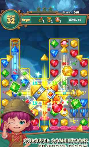 Jewels fantasy :  Easy and funny puzzle game 2