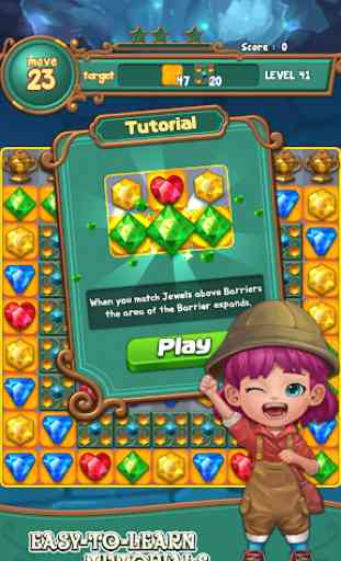 Jewels fantasy :  Easy and funny puzzle game 4