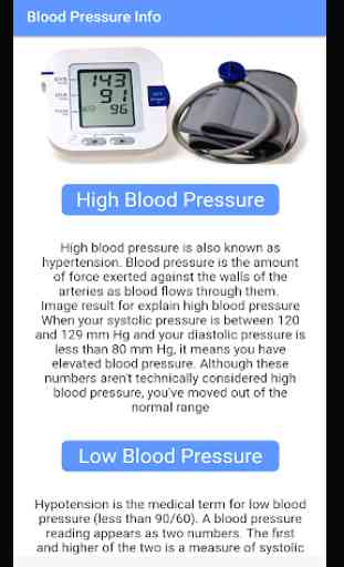 Blood Pressure - BP INFO 2