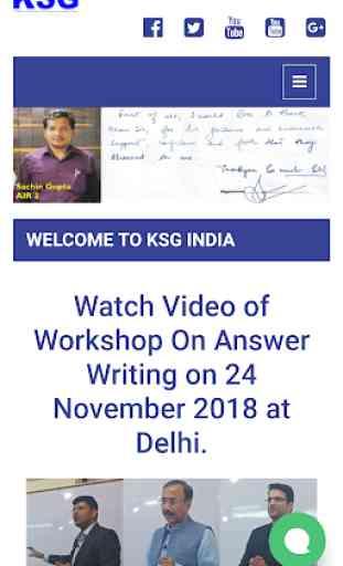 KSG India - IAS Coaching, GS and CSAT 1