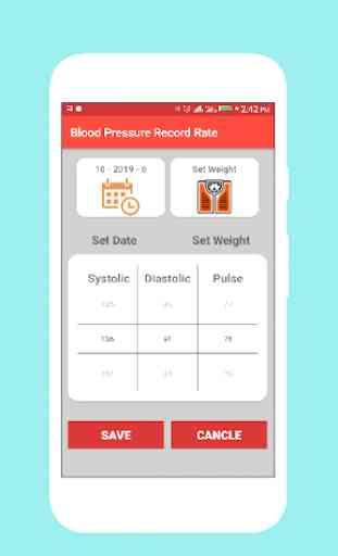 Registratore di pressione sanguigna e diario di bp 2