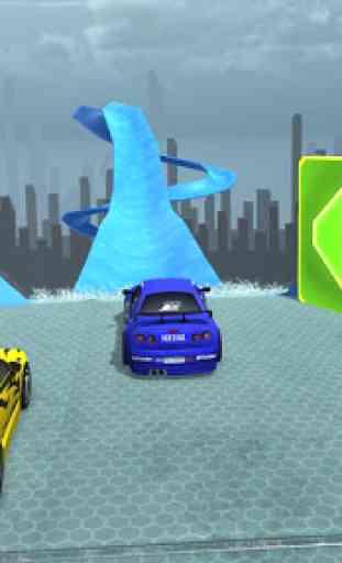 Sports Cars Water Slide - Water Slide Racing Games 3
