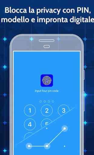 Blocco App Con Impronta Digitale E Password 2