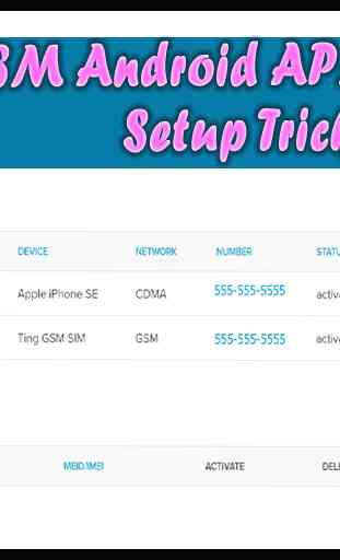 GSM Android APN Setup 1