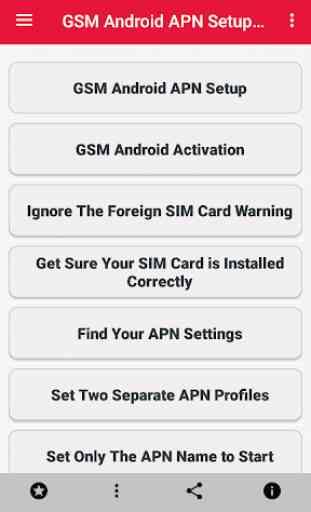 GSM Android APN Setup 3