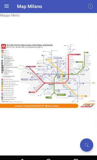 Metro Map Milano 3