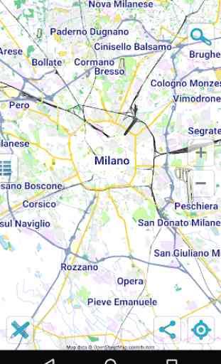 Map of Milan offline 1