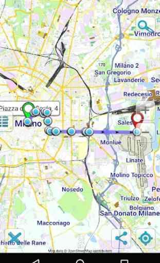 Map of Milan offline 2