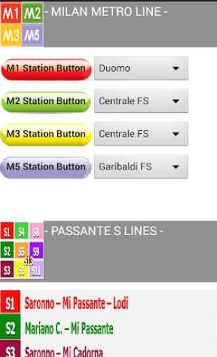 Orari Metro Milano - Milan Underground Timetables 1