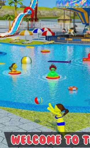 bambini Parco acquatico: acqua diapositiva tema pa 1