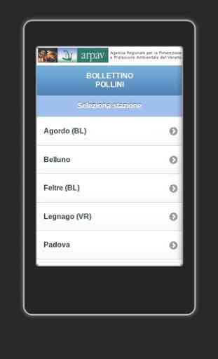 App ARPAV Pollini 1