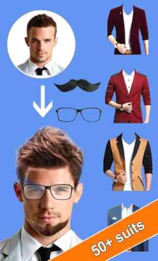 Man Photo Editor: Man Suit, Hair Style, Moustache 2