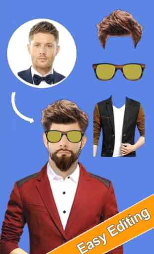 Man Photo Editor: Man Suit, Hair Style, Moustache 4