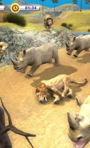 The Lion Simulator - Animal Family Simulator Game 3