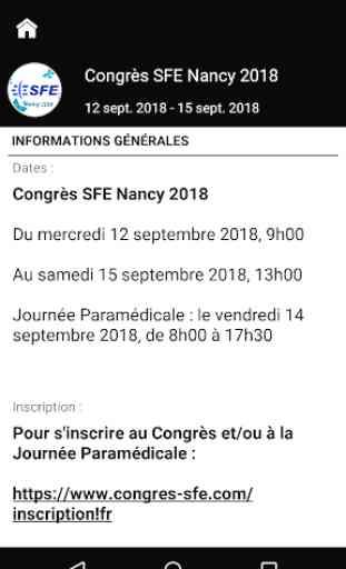 Congrès SFE Nancy 2018 2
