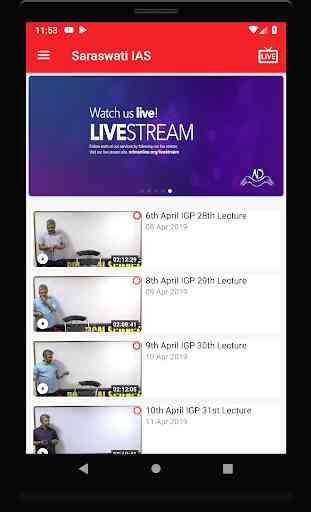 Saraswati IAS Video (Live and on-demand) Classes 2