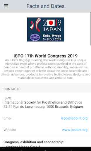 ISPO Congress - 17th World Congress in Kobe, Japan 4