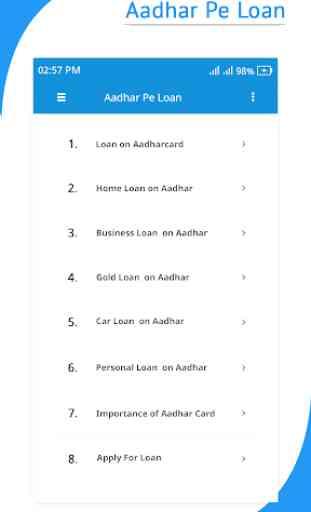 Way to take Aadhar card Pe Loan Guide 3