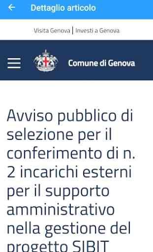 Bandi Comune di Genova 3